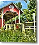 Glessner Wooden Bridge Metal Print