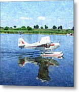 Gliding Between Two Worlds Metal Print