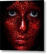 Glitter Face Metal Print