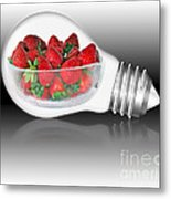 Global Strawberries Metal Print