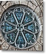 Glorious Church Stained Glass Metal Print