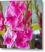 Glorious Gladiolus Metal Print