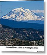 Glorious Mount Adams Metal Print