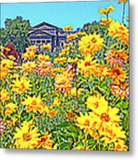 Glorious Yellow And The Franklin Metal Print