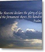 Glory To God   Psalm 10 1 Metal Print