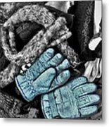 Gloves And Frost Metal Print