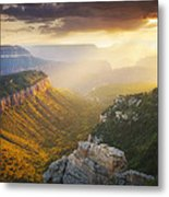 Glow Of The Gods Metal Print by Peter Coskun
