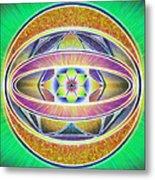 Glow Sphere Delta Metal Print