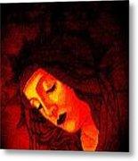 Glowing Botticelli Madonna Metal Print