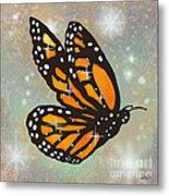 Glowing Butterfly Metal Print