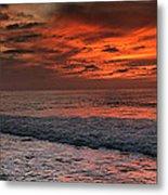 Glowing Cherry Sunset Metal Print