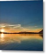 Glowing Clayquot Sound Metal Print