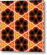 Glowing Floral Pattern Metal Print