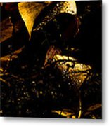 Glowing Leaves Metal Print