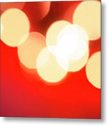Glowing Light On Red Background, Studio Metal Print
