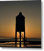 Glowing Lighthouse Metal Print by Anne Gilbert