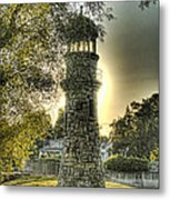 Glowing Lighthouse Metal Print