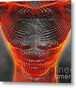 Glowing Muscle Boy Metal Print