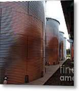Glowing Silos Metal Print