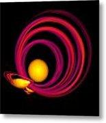 Glowing Spheres Metal Print