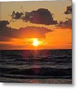 Glowing Sunrise Metal Print