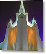 Glowing Temple Metal Print