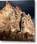 Glowing Under Storm Clouds Metal Print