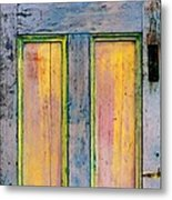 Glowingthrough Painted Door Metal Print