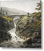 Glyn Diffwys Stone Bridge, Wales, 1800 Metal Print