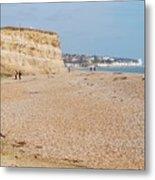 Glyne Gap Beach In England Metal Print