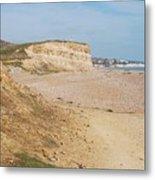 Glyne Gap Cliffs In Sussex Metal Print