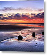 Glyne Gap Sunrise Metal Print by Mark Leader