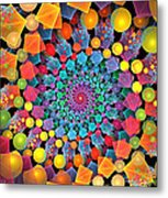 Glynnsims Spiral Fiesta Metal Print