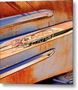 Gmc 4000 V6 Pickup Truck Side Emblem Metal Print