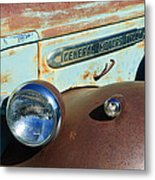 Gmc Truck Side Emblem Metal Print
