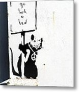 Go Back To Bed Protester Metal Print