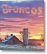 Go Broncos Colorado Country Metal Print