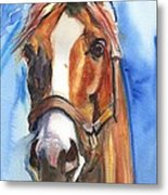 Horse Painting Of California Chrome Go Chrome Metal Print