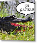 Go Gators Greeting Card Metal Print