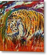 Go Get Them Tiger Metal Print