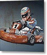 Go-kart Racing Grunge Color Metal Print by Frank Ramspott