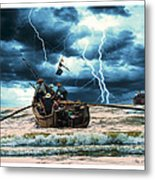 Go Though The Storm Metal Print