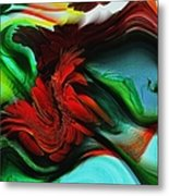 Go With The Flow Abstract Metal Print