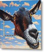 Goat A La Magritte Metal Print
