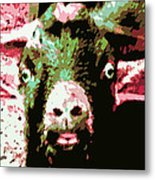 Goat Abstract Metal Print