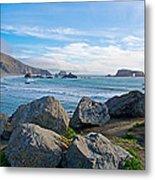 Goat Rock State Beach Near Russian River Outlet Near Jenner-ca Metal Print