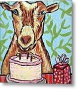 Goat's Birthday Metal Print by Jay  Schmetz
