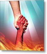 God And Devil Metal Print