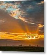 God Beams And Sunrise Metal Print
