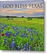 God Bless Texas  Metal Print